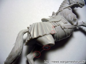 Imperfezioni tipiche della resina presenti sul modello