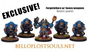 Squadra di forgefathers con armi pesanti