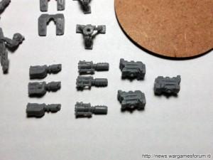 Componenti delle 3 Squadre Arma Pesante